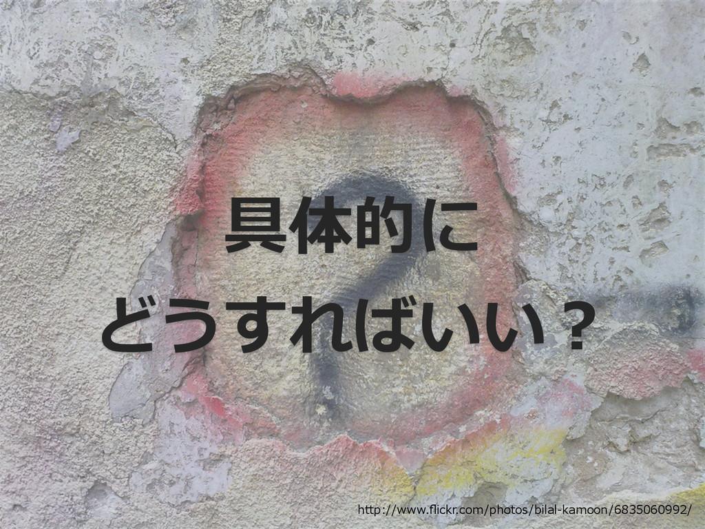 具体的に どうすればいい? http://www.flickr.com/photos/bilal...