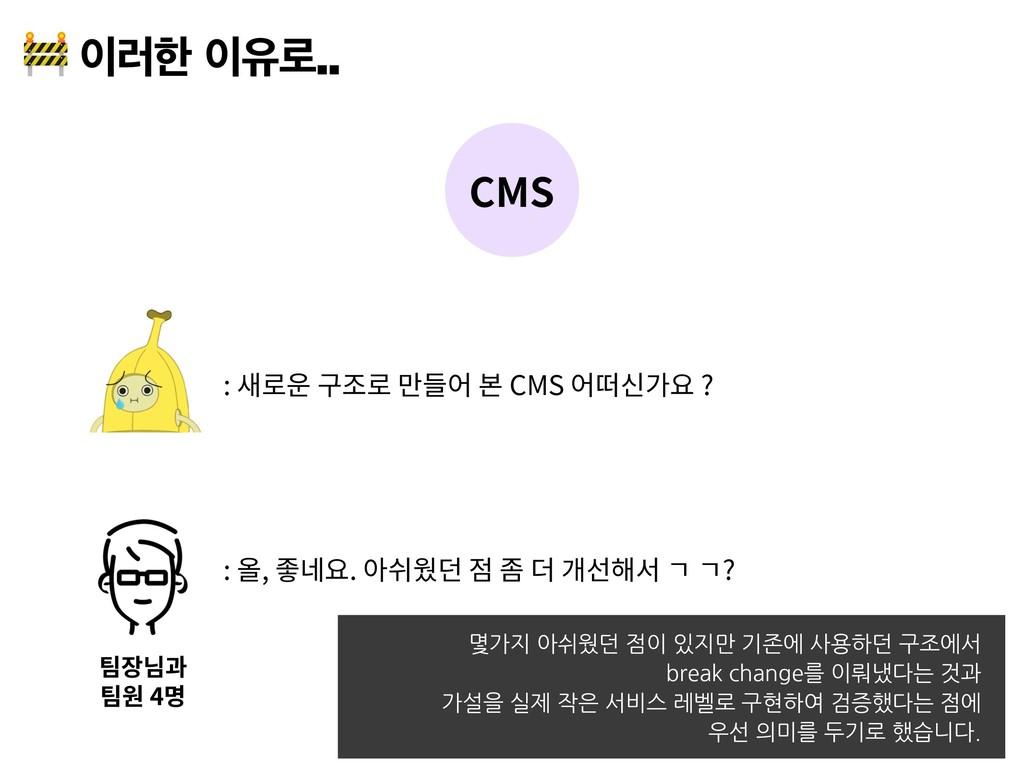 ۞ೠਬ۽ CMS : CMS ? 4 : , . ? 몇가지 아쉬웠던 점이 있지...