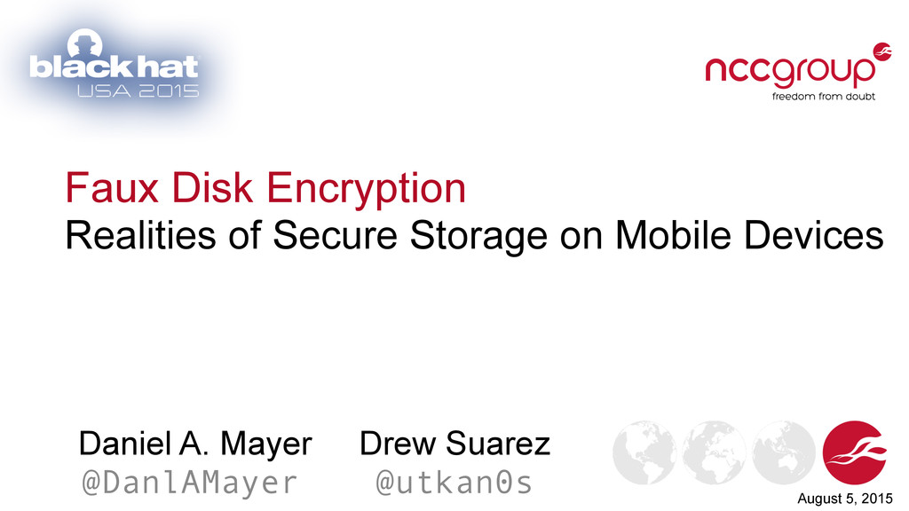 Faux Disk Encryption Realities of Secure Storag...