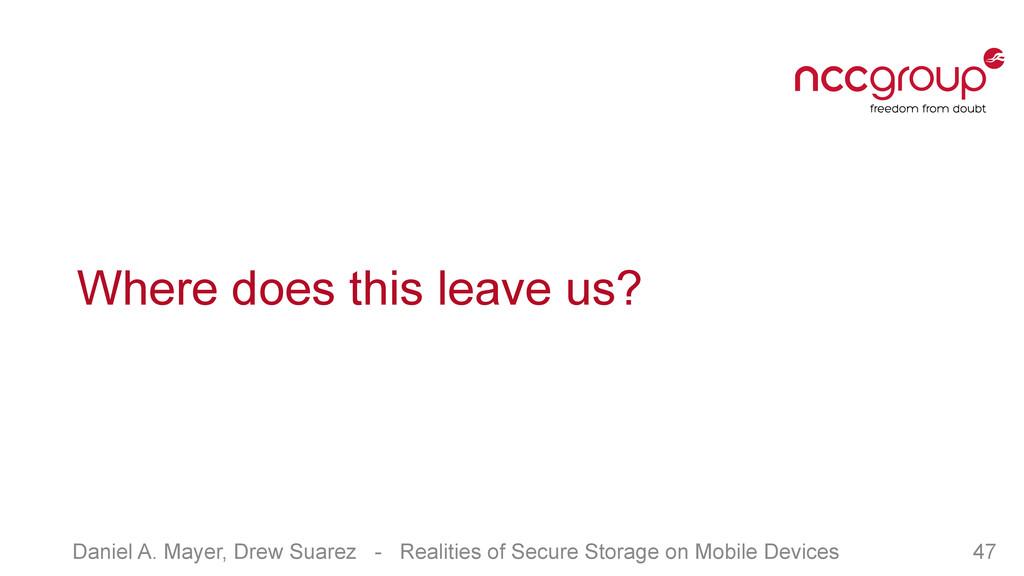 Daniel A. Mayer, Drew Suarez - Realities of Sec...
