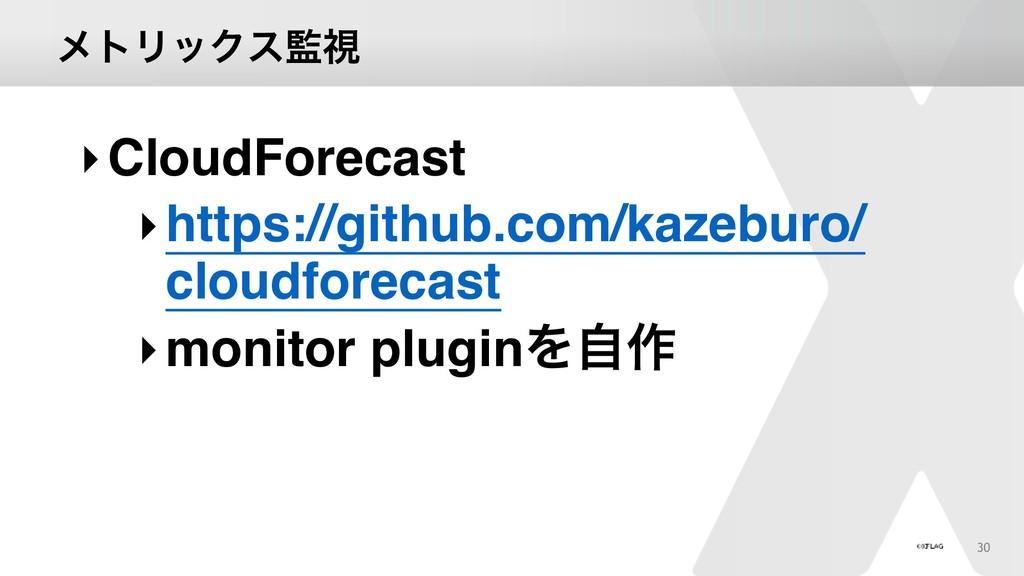 ϝτϦοΫεࢹ 30 ‣CloudForecast ‣https://github.com/...