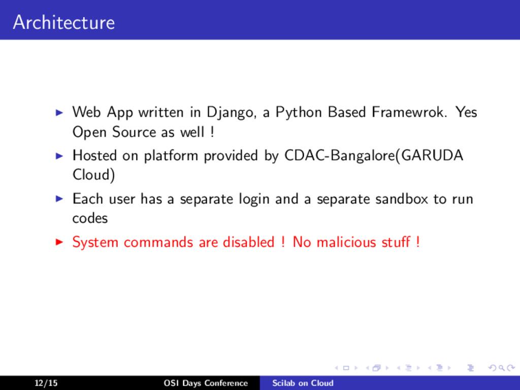 Architecture Web App written in Django, a Pytho...