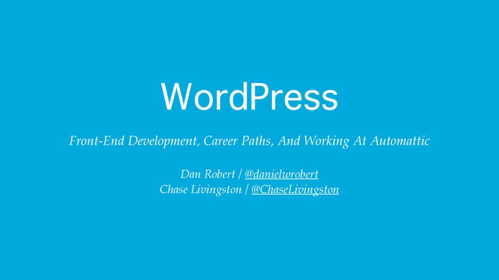WordPress Front-End Development, Career Paths, ...