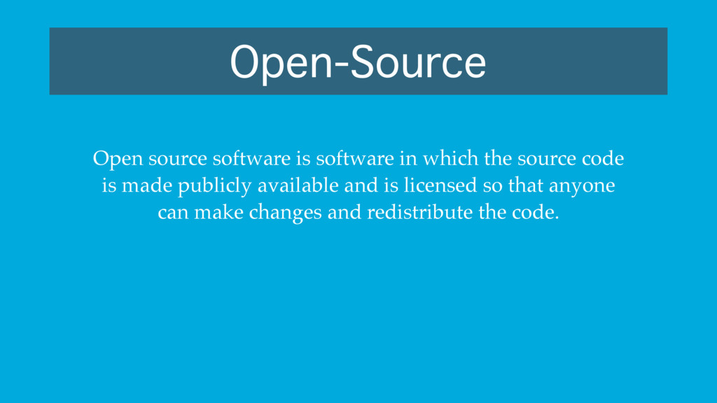 Open-Source Open source software is software in...