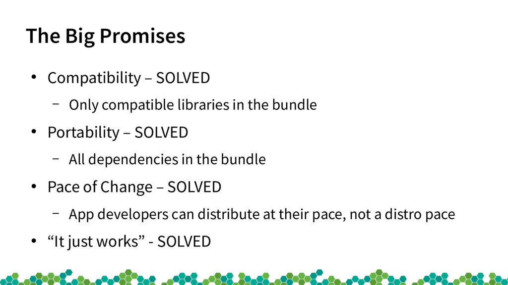The Big Promises ● Compatibility – SOLVED – Onl...