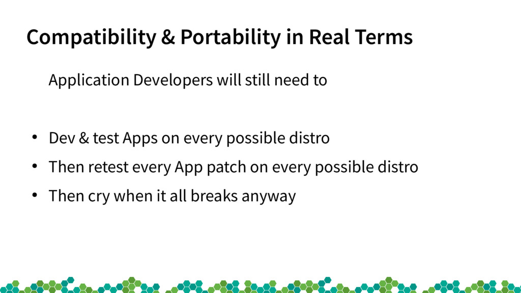 Compatibility & Portability in Real Terms Appli...