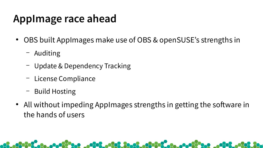 AppImage race ahead ● OBS built AppImages make ...