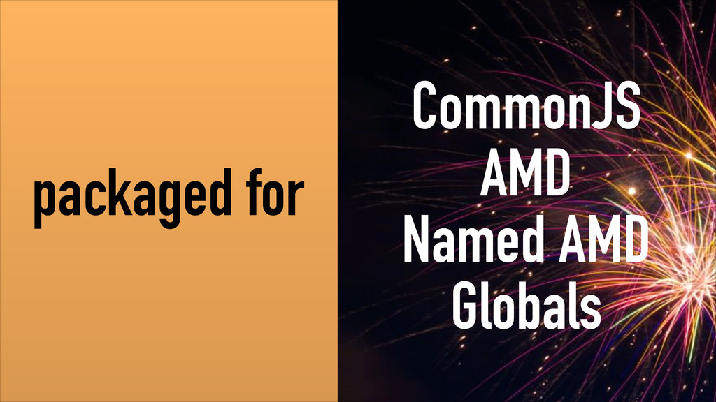 packaged for CommonJS AMD Named AMD Globals