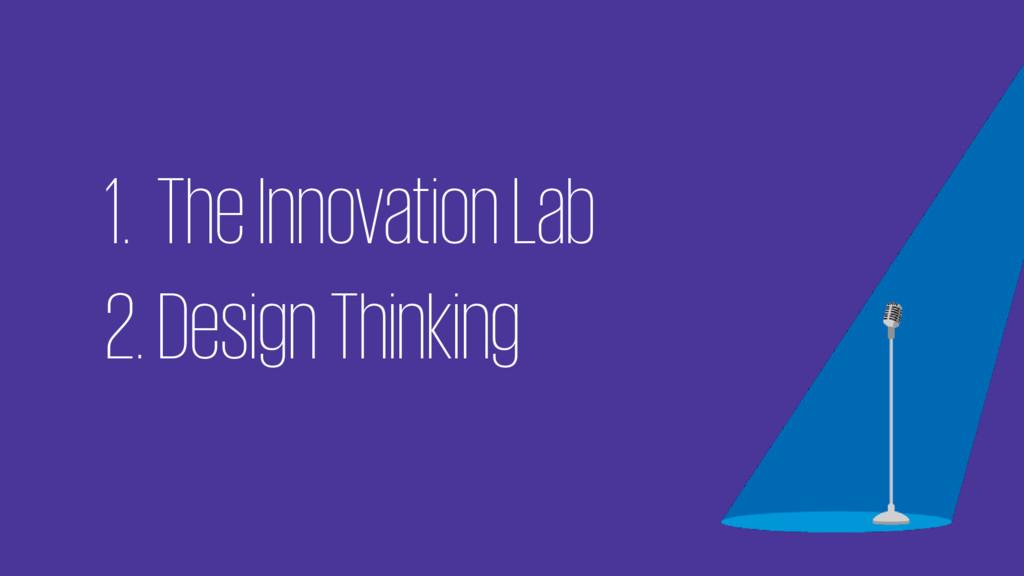 1. The Innovation Lab 2. Design Thinking