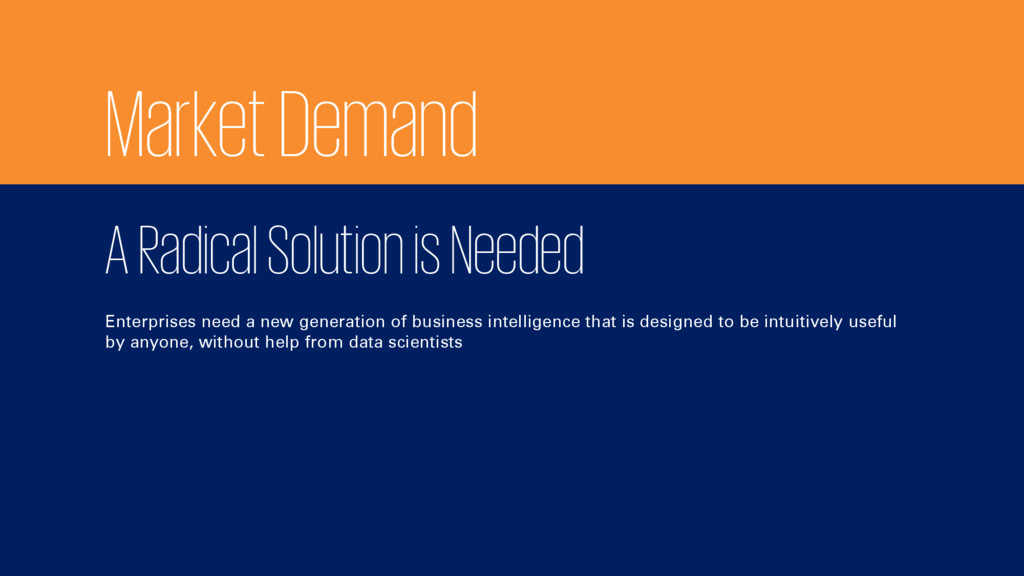 Market Demand A Radical Solution is Needed Ente...