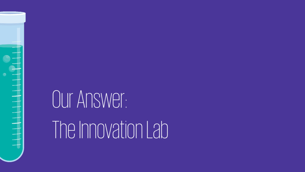 Our Answer: The Innovation Lab