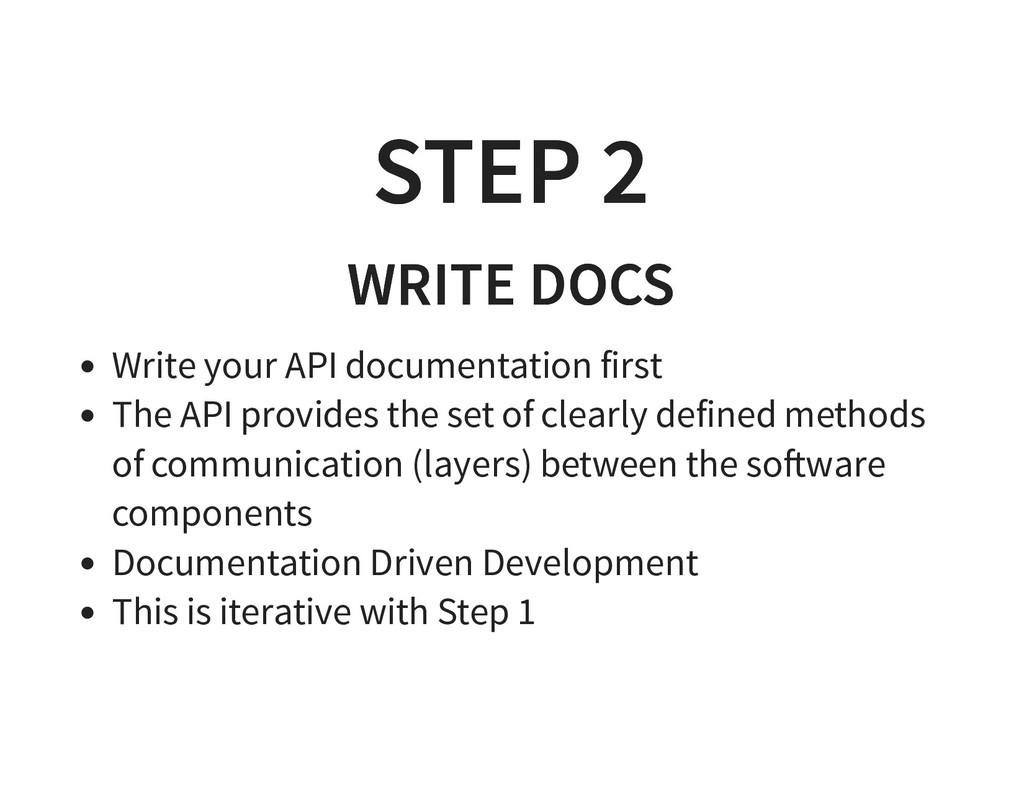 STEP 2 STEP 2 WRITE DOCS WRITE DOCS Write your ...