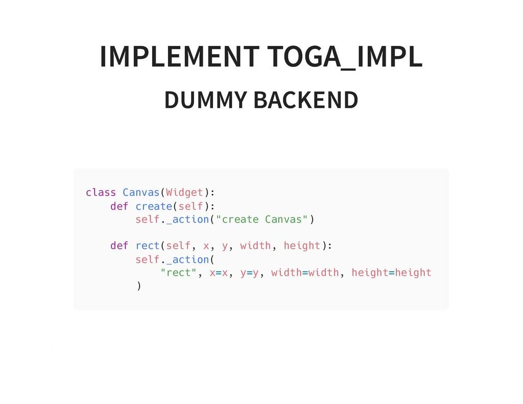 IMPLEMENT TOGA_IMPL IMPLEMENT TOGA_IMPL DUMMY B...