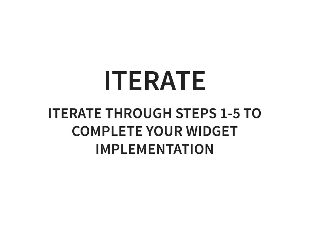 ITERATE ITERATE ITERATE THROUGH STEPS 1-5 TO IT...