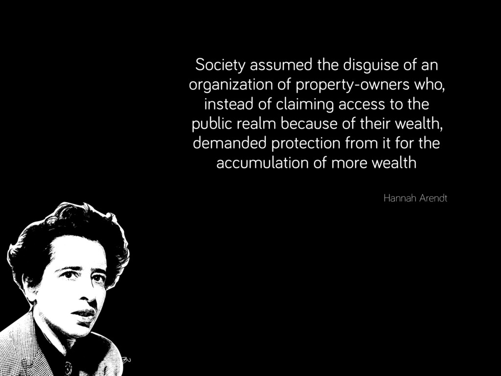 Society assumed the disguise of an organization...