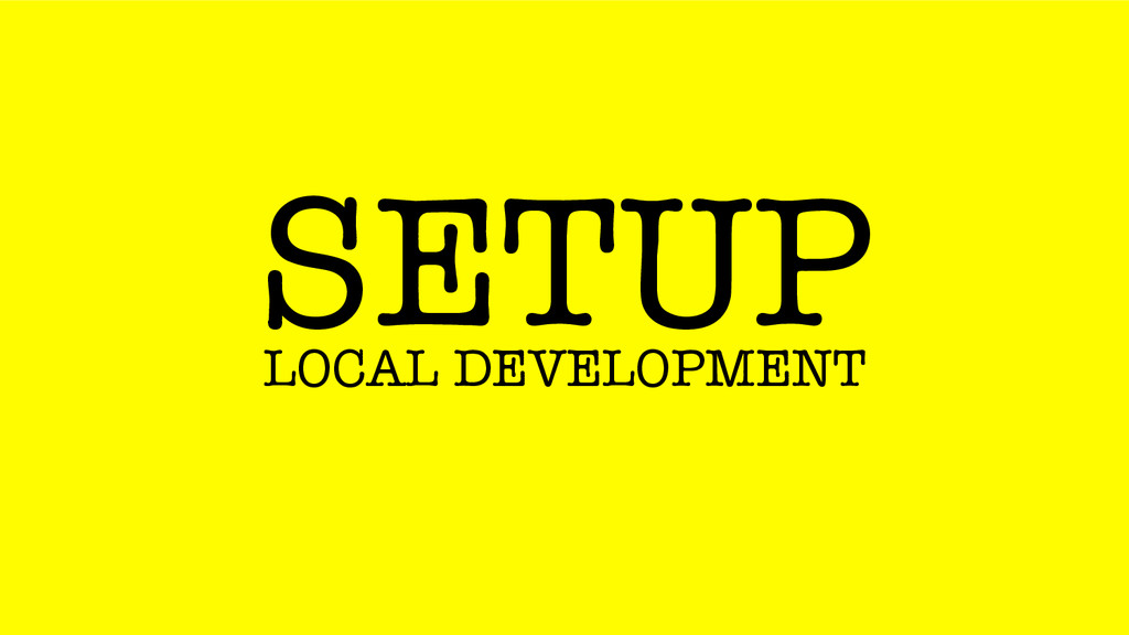SETUP