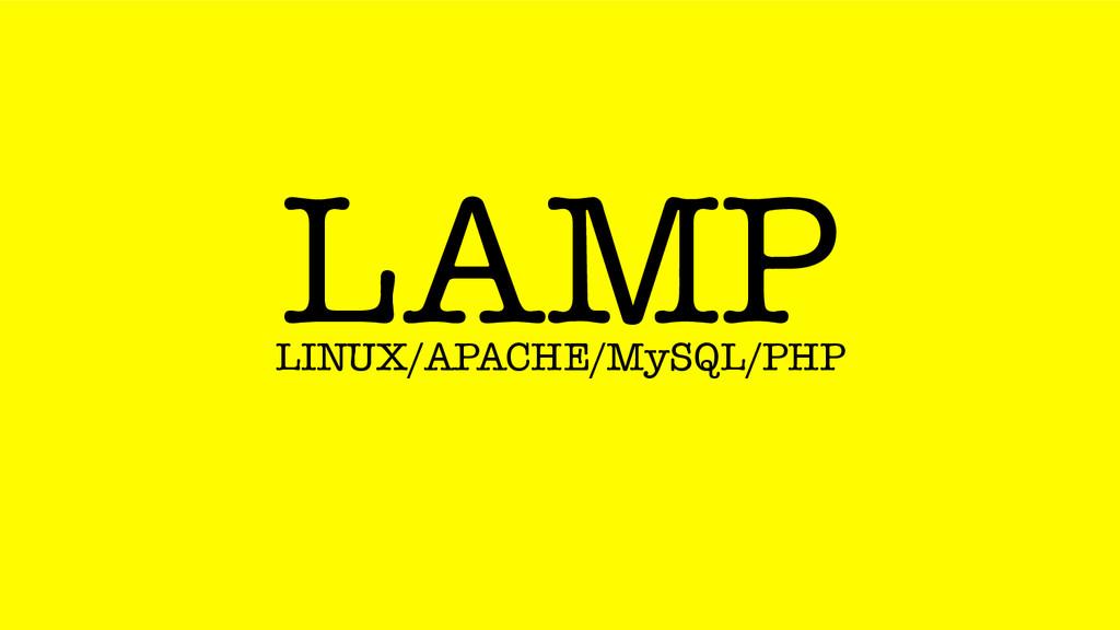 LAMP LINUX/APACHE/MySQL/PHP