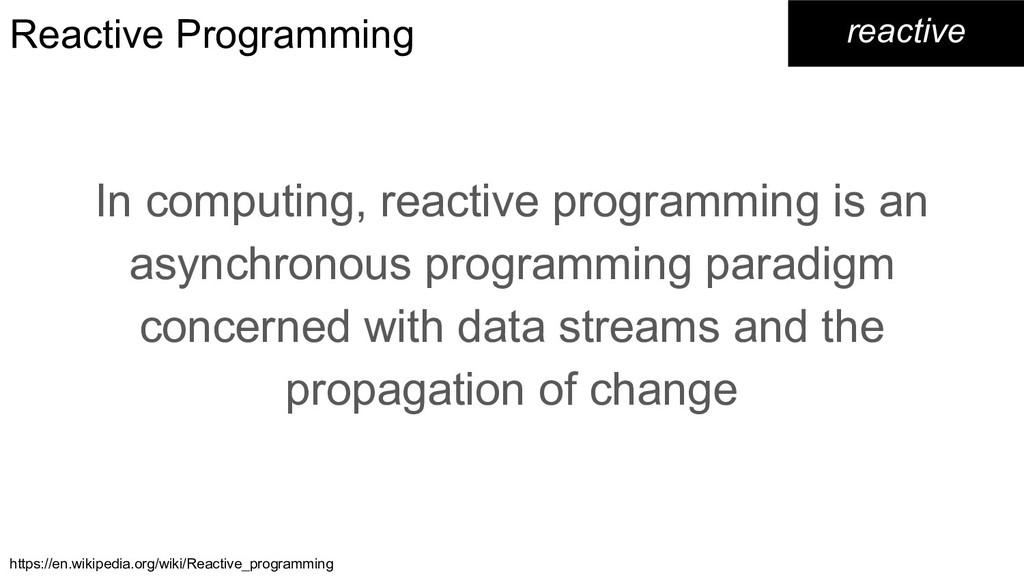 Reactive Programming In computing, reactive pro...
