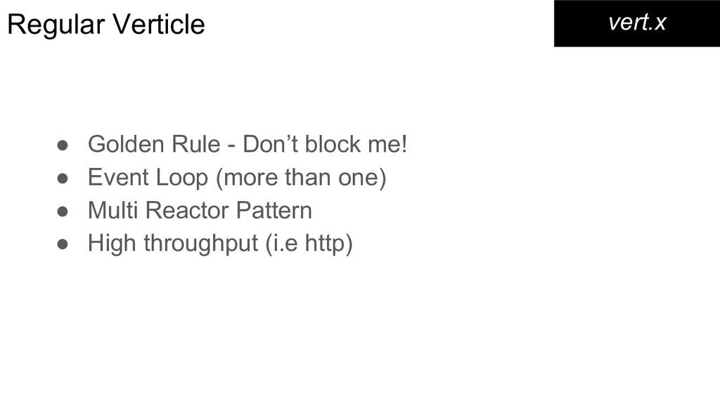 Regular Verticle ● Golden Rule - Don't block me...