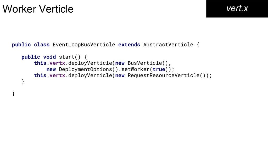 Worker Verticle vert.x public class EventLoopBu...