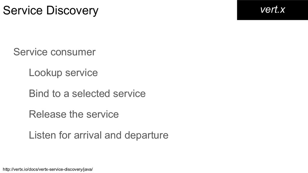 Service Discovery Service consumer Lookup servi...