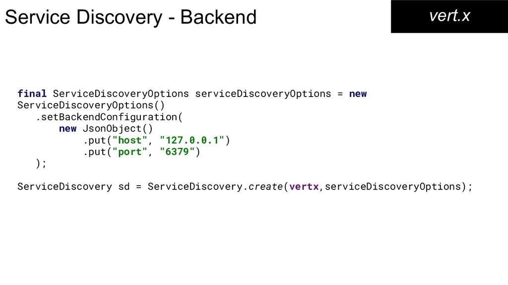 Service Discovery - Backend vert.x final Servic...