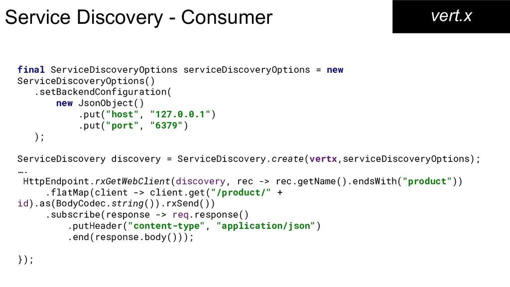 Service Discovery - Consumer vert.x final Servi...