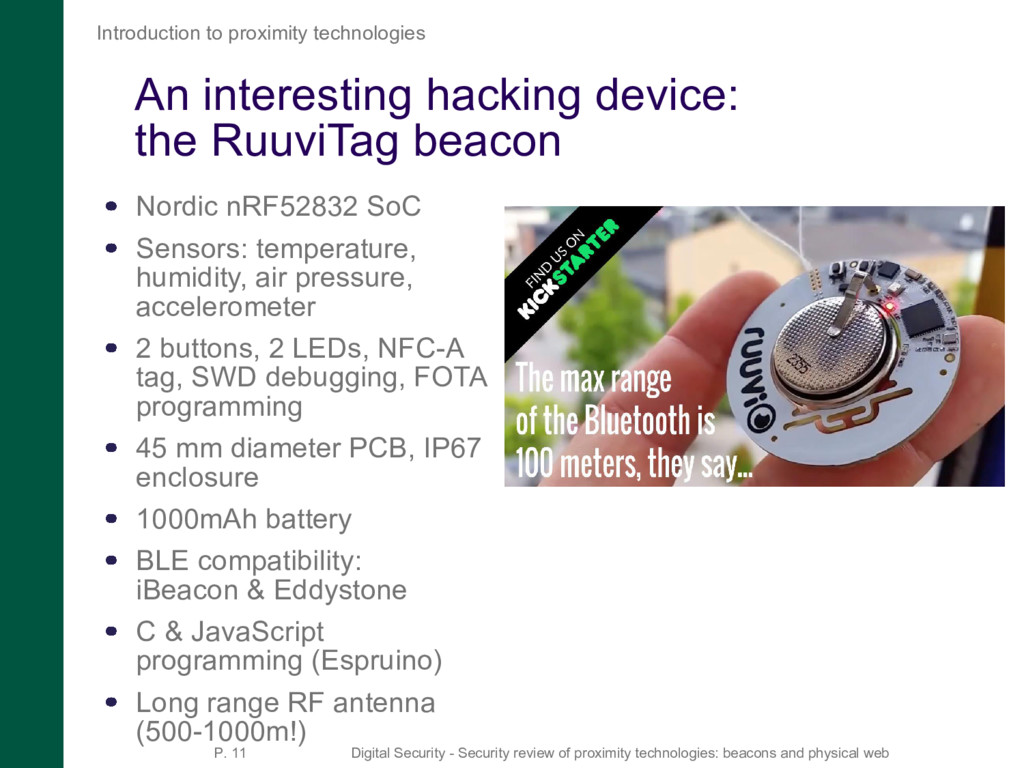An interesting hacking device: the RuuviTag bea...
