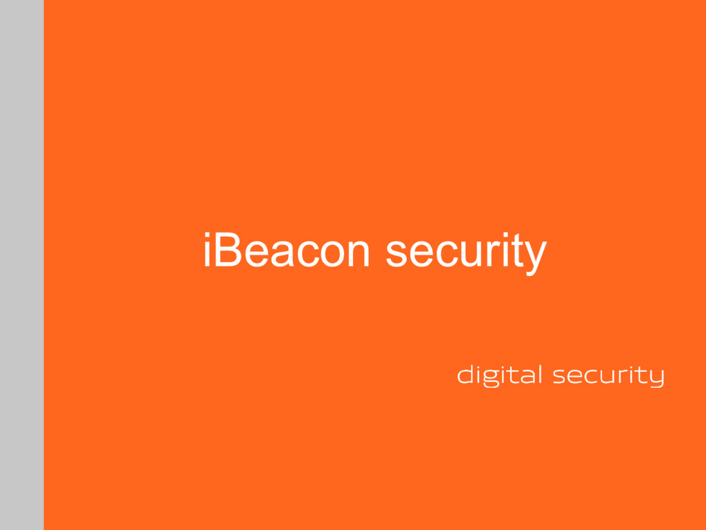 iBeacon security