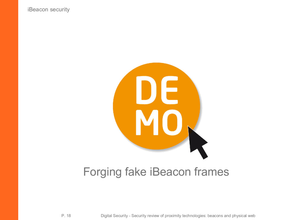 iBeacon security Forging fake iBeacon frames P....