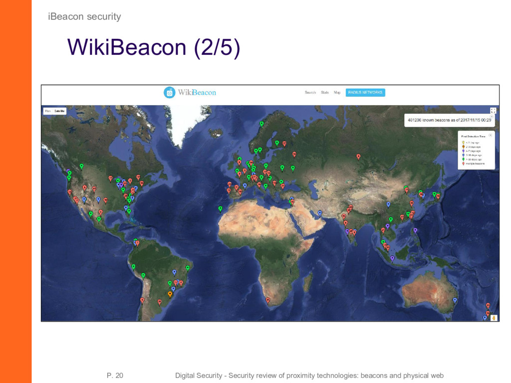 WikiBeacon (2/5) iBeacon security P. 20 Digital...
