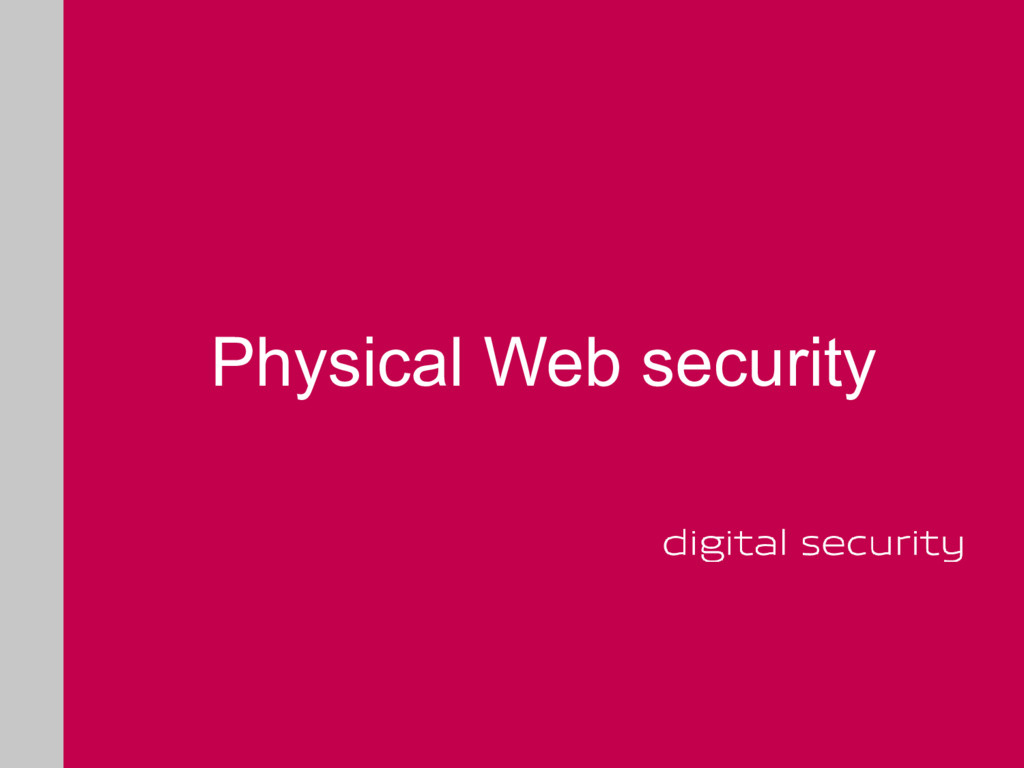 Physical Web security
