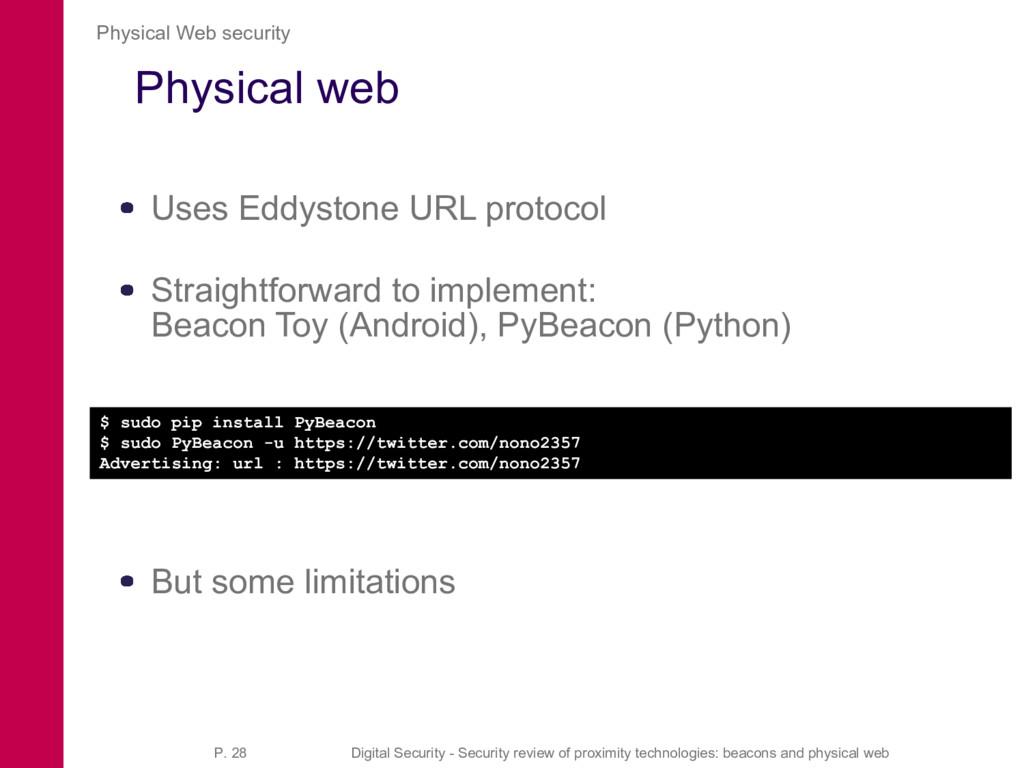 Physical web Uses Eddystone URL protocol Straig...