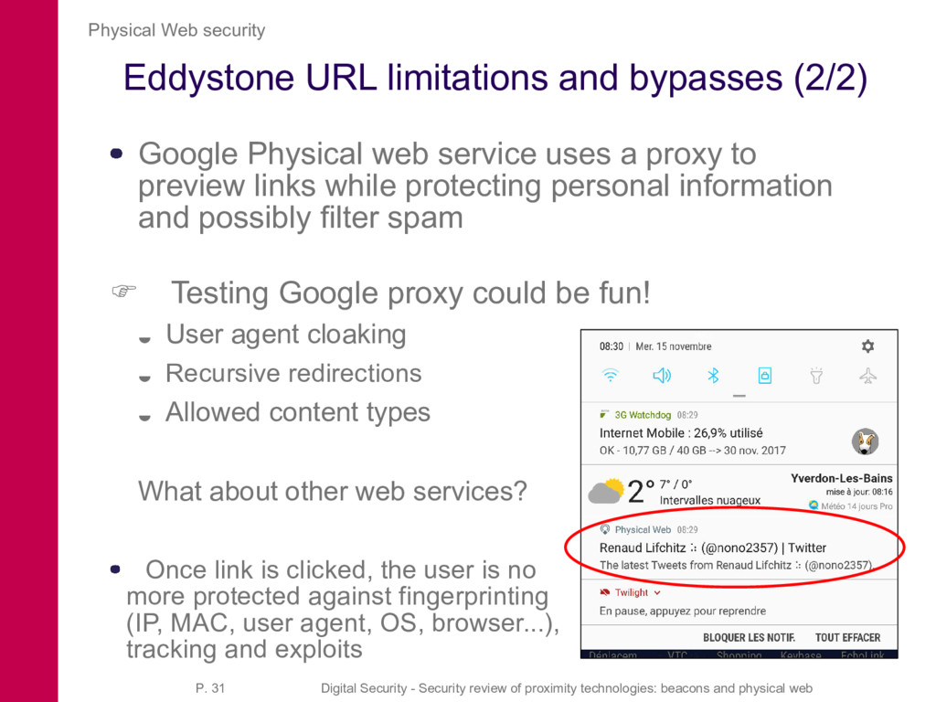 Eddystone URL limitations and bypasses (2/2) Go...