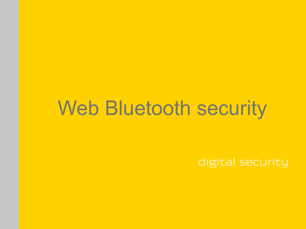 Web Bluetooth security