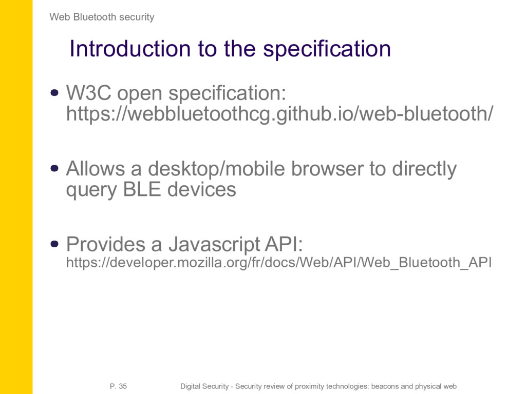 Introduction to the specification W3C open spec...