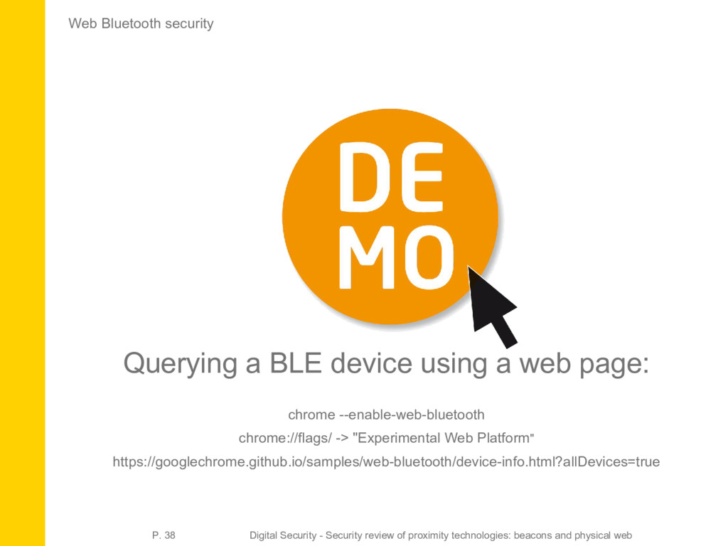 Web Bluetooth security Querying a BLE device us...