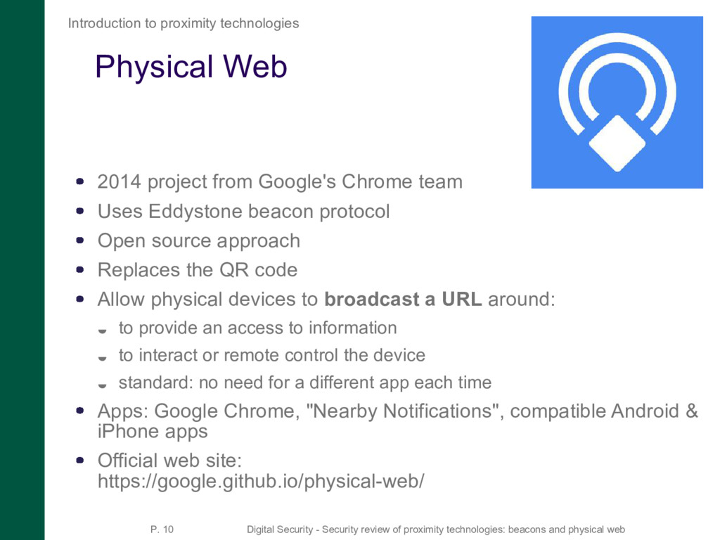 Physical Web 2014 project from Google's Chrome ...