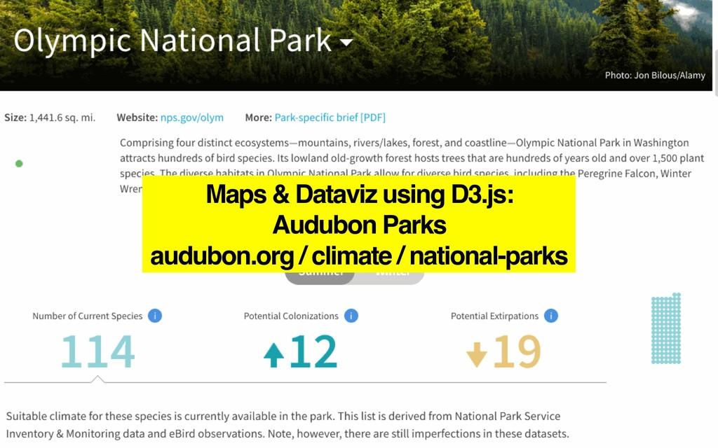 Maps & Dataviz using D3.js: Audubon Parks audub...