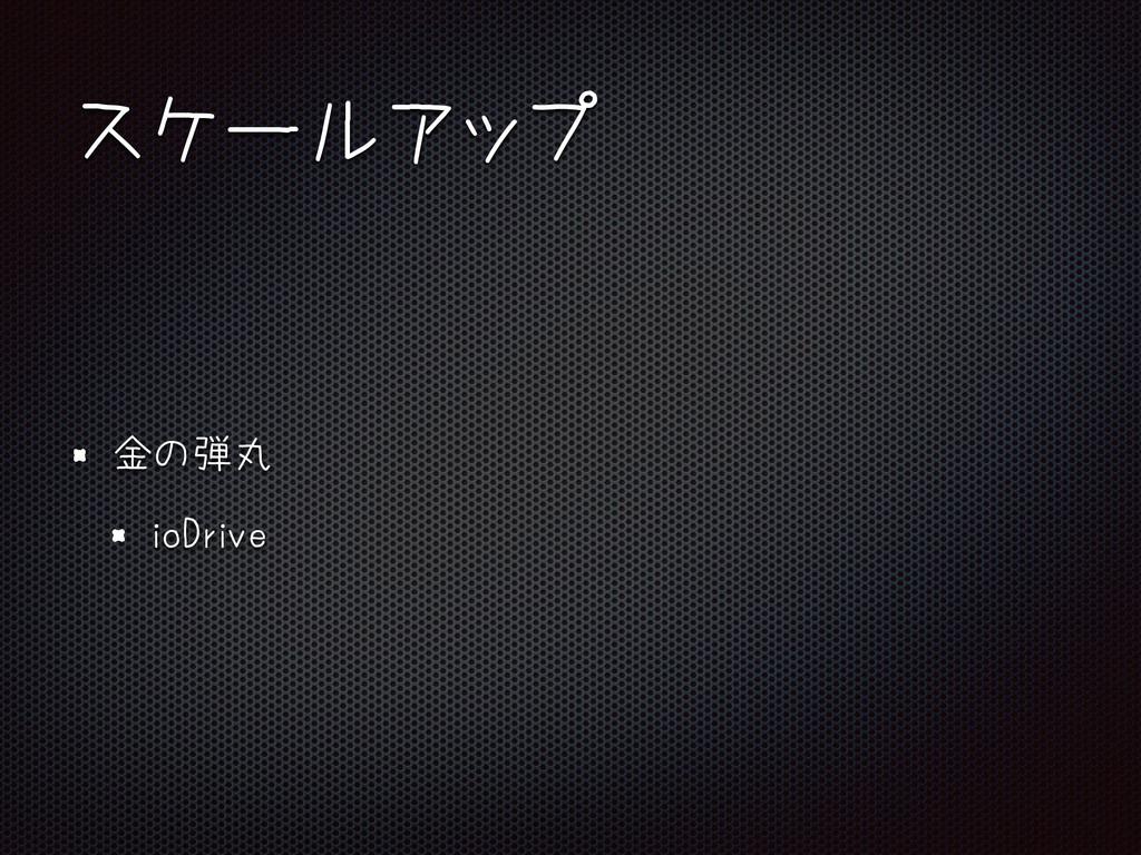 スケールアップ 金の弾丸 ioDrive