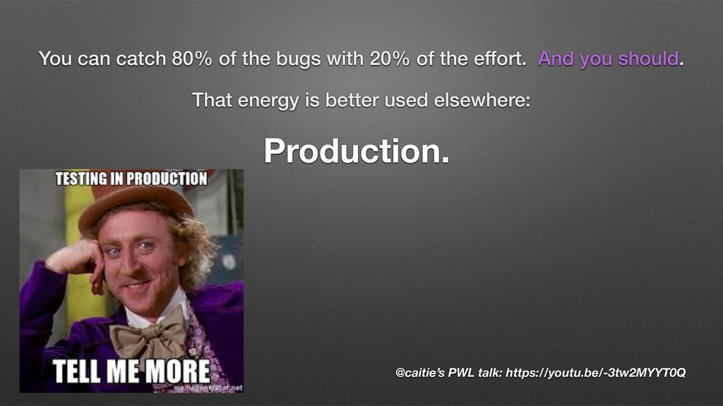 That energy is better used elsewhere: Productio...