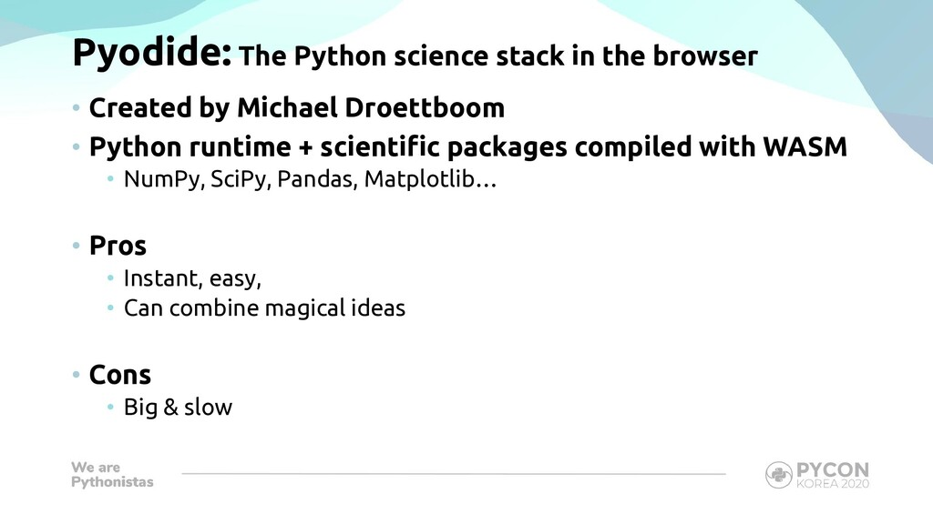 Pyodide: The Python science stack in the browse...