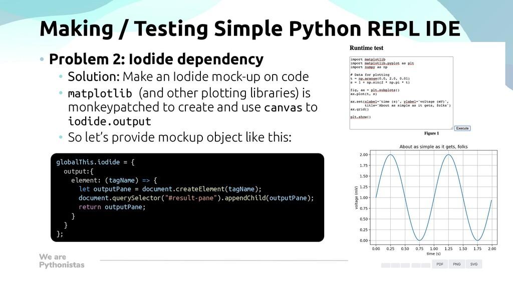 Making / Testing Simple Python REPL IDE • Probl...
