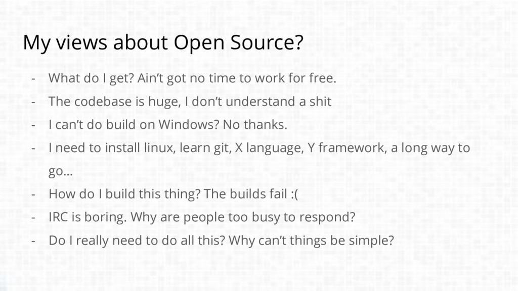 My views about Open Source? - What do I get? Ai...