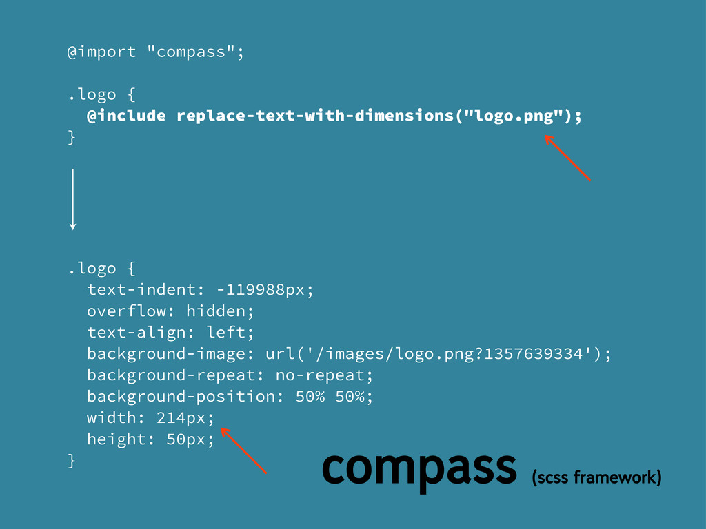 "@import ""compass""; .logo { @include replace-tex..."