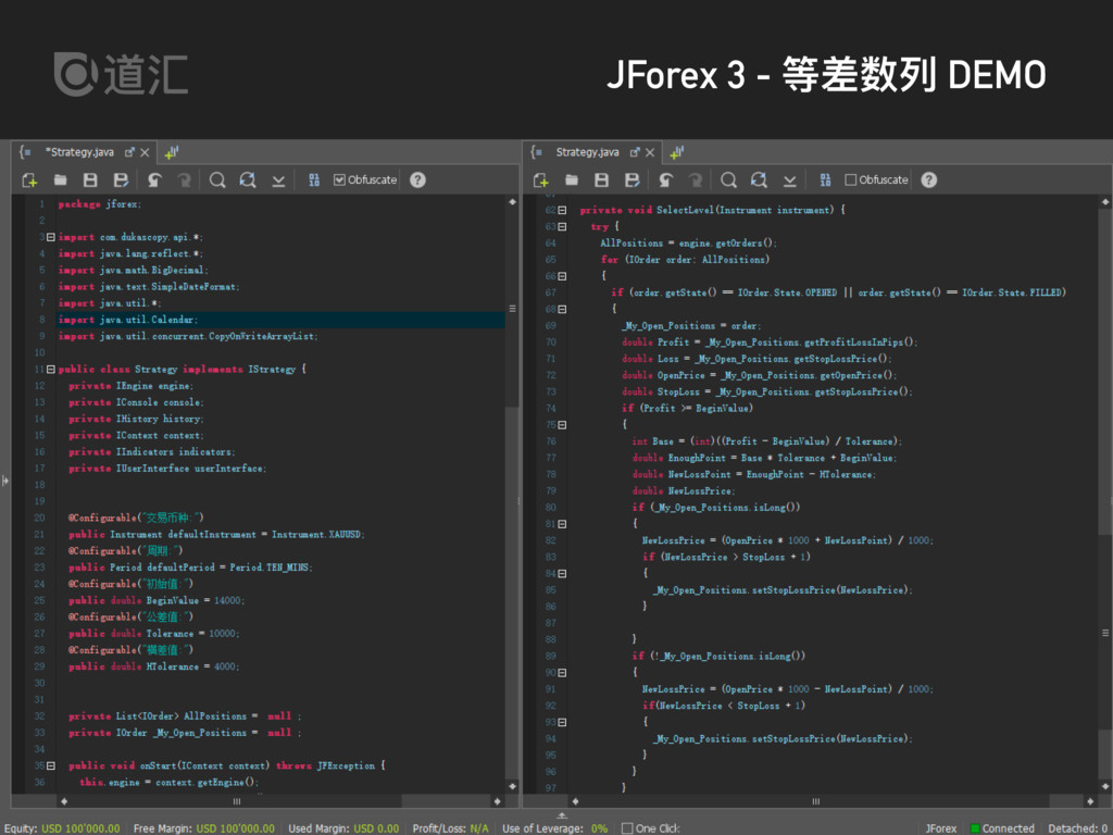 daofx.com JForex 3 - 等差数列列 DEMO