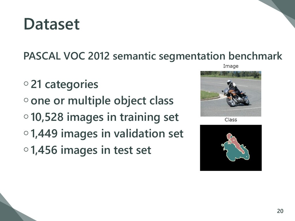 Dataset PASCAL VOC 2012 semantic segmentation b...