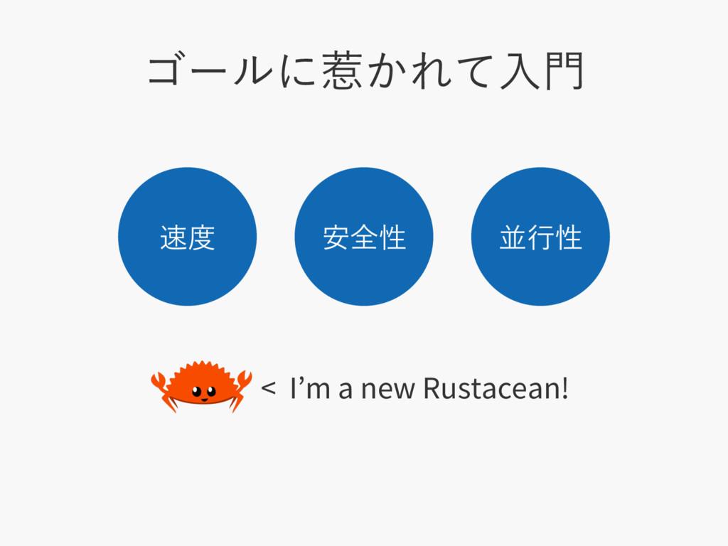 ΰʔϧʹऒ͔Εͯೖ  ҆શੑ ฒߦੑ < I m a new Rustacean...