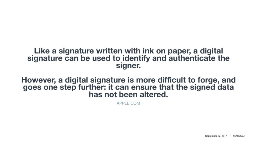 September 27, 2017 | MARIN USALJ Like a signatu...