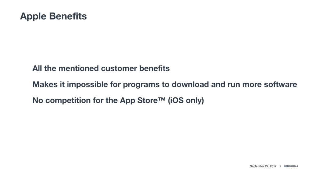 September 27, 2017 | MARIN USALJ Apple Benefits...